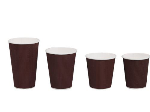 10oz Triple Wall Coffee Cup - Brown