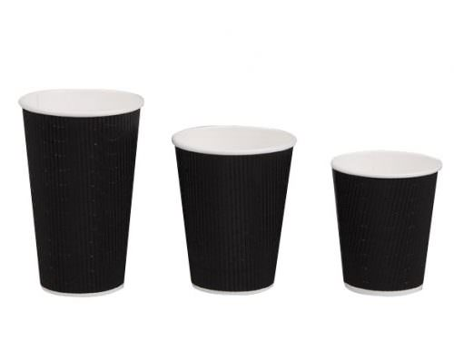 12oz Triple Wall Coffee Cup - Black